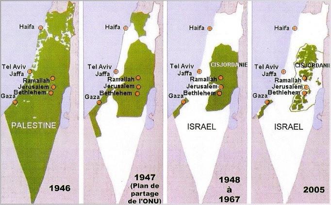 carte palestine israel